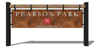 New Pearson Park sign